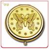 Gift Custom Embossed Goldによっての女性のめっきされる金属のギフトミラー