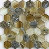 2016 El más reciente hexagonal vidrio mezclado Hot Melt Mosaico de vidrio para Wall