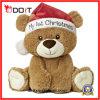 Luxuoso enchido decoração do urso do brinquedo do Natal do presente do Natal