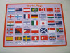 PVC imprimé Placemat de garniture de bureau de l'impression pp de drapeau de mot
