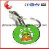 Símbolo europeo de la carretilla de las compras del metal de la talla estándar con Keychain