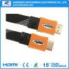 新しいデザイン平らなナイロンHDMI Cable イーサネットを使って