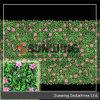 屋外の庭の偽造品のプライバシーのキヅタの葉の塀の両掛け