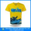 Рубашка тройника печатание V-Шеи высокого качества изготовленный на заказ для людей