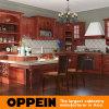 Oppein klassische Russland rote Birken-festes Holz-Küche-Schränke (OP12-X105)