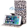 iPhone аргументы за крышки мобильного телефона Flip кожи PU фермуара бумажника текстуры леопарда способа магнитное