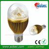 DEL Bulb Lamp 5W Golden Aluminum