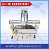 Router di CNC delle teste di Pnumatic 3 di alta qualità di Ele 1325, router poco costoso di CNC 3D con 3 assi di rotazione