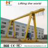 Hook를 가진 20 톤 Remote Control Single Girder Gantry Crane