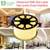 los 60LEDs/M 220V 5050 luz de tira flexible de tres bases LED impermeable