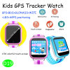 最も新しい1.54の多彩なタッチ画面の子供GPSの追跡者の腕時計(D19)
