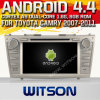 Toyota Camry (W2-A9117T)를 위한 Witson Android 4.4 System Car DVD
