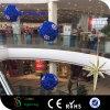 Lumières de bille de guirlande de Noël 3D pour des décorations de centre commercial