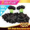 100%の人間の毛髪のブラジルの加工されていないFunmiのカーリーヘアーの拡張Lbh 166