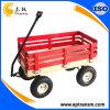 L'unité centrale roule le chariot de jardin avec la frontière de sécurité en bois