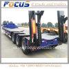 de 50tons Lowbed de plate-forme de camion remorque hydraulique semi pour le transport d'excavatrice