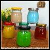 De mini Fles van het Glas van de Pudding met het Deksel van het Metaal/Kruik Cubilose