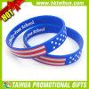 Изготовленный на заказ браслет силикона национального флага напечатал (DSC05199)