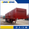 세 배 Axle 60tons Bulk Cargo Transport Enclosed Box Semi Trailer