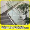 Barandilla de interior del vidrio de la escalera de la barandilla del acero inoxidable