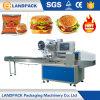 Máquina de embalagem automática do hamburguer do fluxo quente da venda
