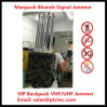 Jammer portátil do sinal do jammer de VHF/UHF Manpack, jammer portátil, jammer da trouxa