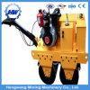 700kg Walk Behind Mini Wegwals met Dieselmotor