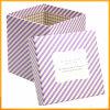 Boîte-cadeau carrée estampée de carton