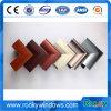 Perfil de madera del aluminio de la impresión de la transferencia del grano de la fábrica