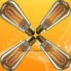 中国の製造者からのリスケージ型のエジソンの球根の装飾的なフィラメントの電球St64