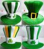 Chapéus superiores do dia do St. Patrick de veludo (PM006)