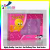 Лоснистая розовая коробка печатание бумажная с логосом шаржа