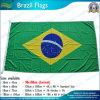 drapeau tissé du Brésil Naitonal de polyester tourné par 160GSM (T-NF05F09059)