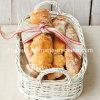 Bandeja da cesta do salgueiro do pão branco de boa qualidade