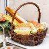 정정 당당히 구획 Enco 친절한 주문을 받아서 만들어진 고리 버들 세공 버드나무 음식 안전한 빵 바구니