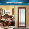 Klassieke Aluminium Scharnierende Deuren voor de Binnenlandse Decoratie van de Badkamers met Bloemen
