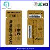 Cartão irregular do PVC do tamanho