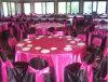 Крышки стула украшения венчания и крышки таблицы
