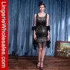 Sequin-Troddel-Rand-Prallplatte-Abend-Kleid Zwanzigerjahre der reizvollen Frauen