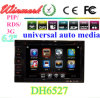 Dh6527 2 DIN 7 Inch Universal Car DVD Player/Car Radio met GPS RDS TV Bluetooth