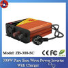 300W 24V DC to 110/220V AC Pure Sine Wave Power Inverter with Charger