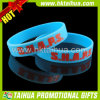 Silicone azul Bracelet com o Printed para Promotional Items (TH-band031)