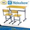 Werzalit Board Double Table와 Chair Set Moonshow School Furniture