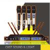 Профессиональные четырехшпиндельные микрофоны радиотелеграфа UHF Mic