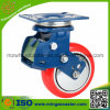 Choque Absorption Caster con PU Wheel, Caster con Spring