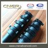Fibra del carbón y tubo telescópico híbrido de la fibra de vidrio