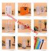 Sacs en plastique clairs estampés UV de bonne qualité de cadeau pliant le modèle (sacs en plastique de cadeau)
