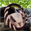 Chemise en bois de luxe de couverture de volant de véhicule de talon avec la configuration