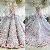 Flores que Wedding os vestidos nupciais azuis Z3033 de Quinceanera dos vestidos de esfera