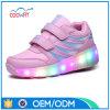 Самые новые оптовые продажи СИД фабрики ботинок ролика колес освещают вверх ботинки колеса конька ролика